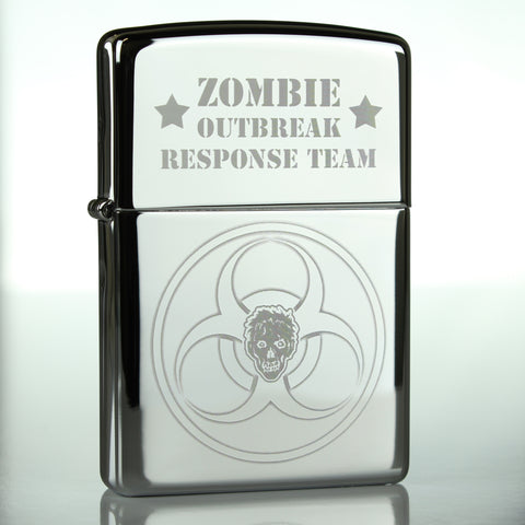Zombie Outbreak Response Team Classic Chrome Zippo Lighter
