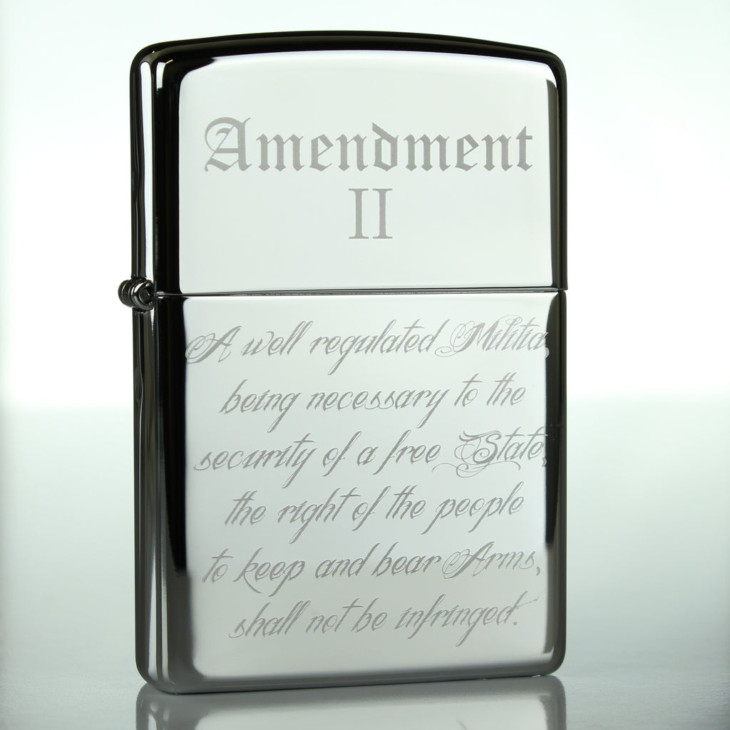 2nd Amendment Classic Chrome Zippo Lighter