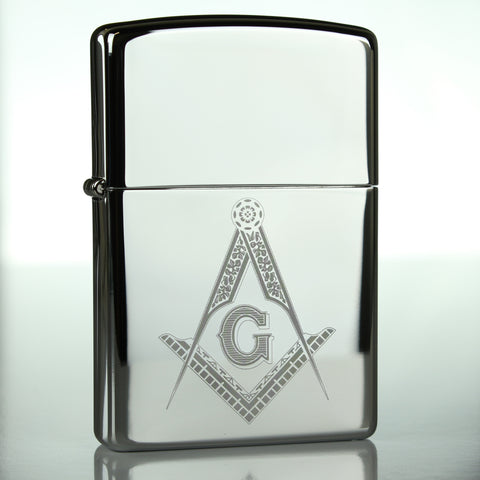 Masonic Freemasonry Classic Chrome Zippo Lighter