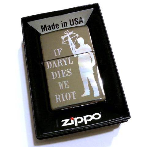 The Walking Dead Daryl Dixon Classic Chrome Zippo Lighter