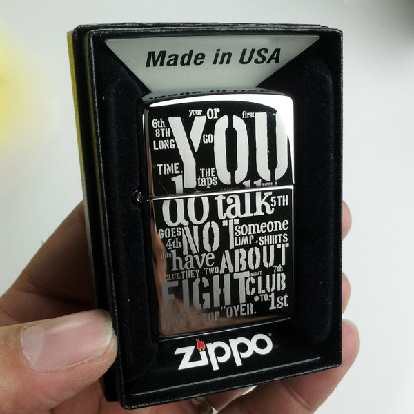 Personalized Custom Engraved Classic Chrome Zippo Lighter