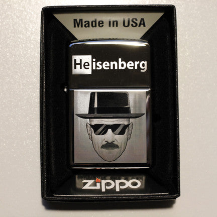 Breaking Bad Heisenberg Classic Chrome Zippo Lighter