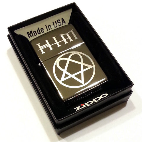 HIM Heartagram Classic Chrome Zippo Lighter