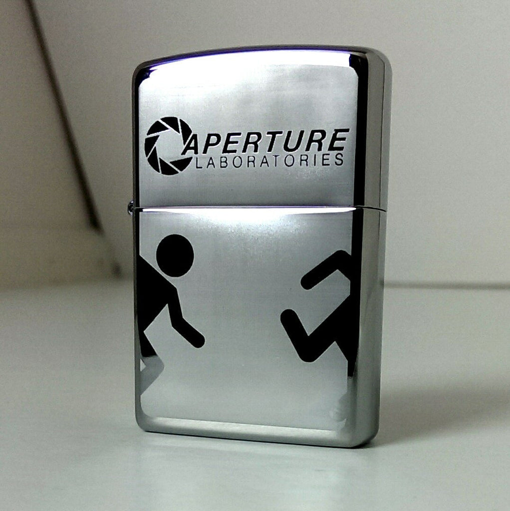 Portal Aperture Labs Classic Chrome Zippo Lighter