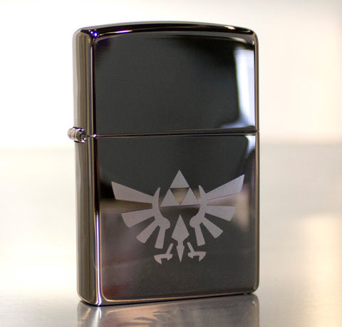 Zelda Hylian Crest Triforce Classic Chrome Zippo Lighter