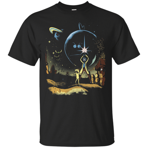 RICK AND MORTY in Star Wars Cotton T Shirt