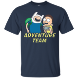 AdventureTeam with Morty - Rick and Morty Cotton T Shirt