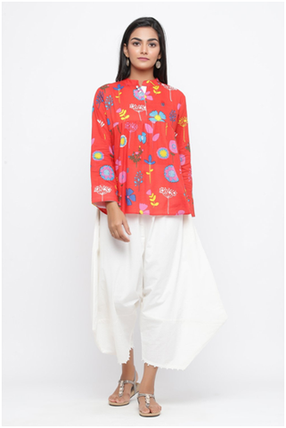 buy multi floral printed cotton tunic online