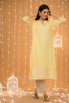 YELLOW GOTA COTTON KURTA