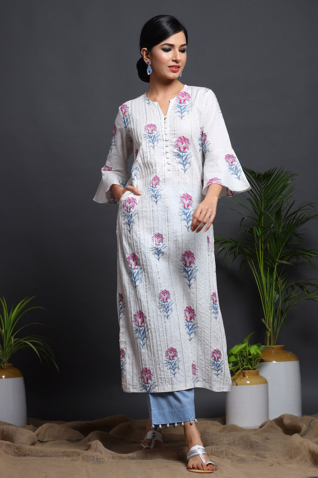 PRINTED GOTA COTTON KURTA