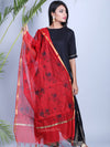 RED CHANDERI DUPATTA