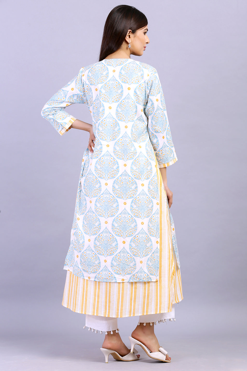 DOUBLE LAYERED PRINTED  KURTA