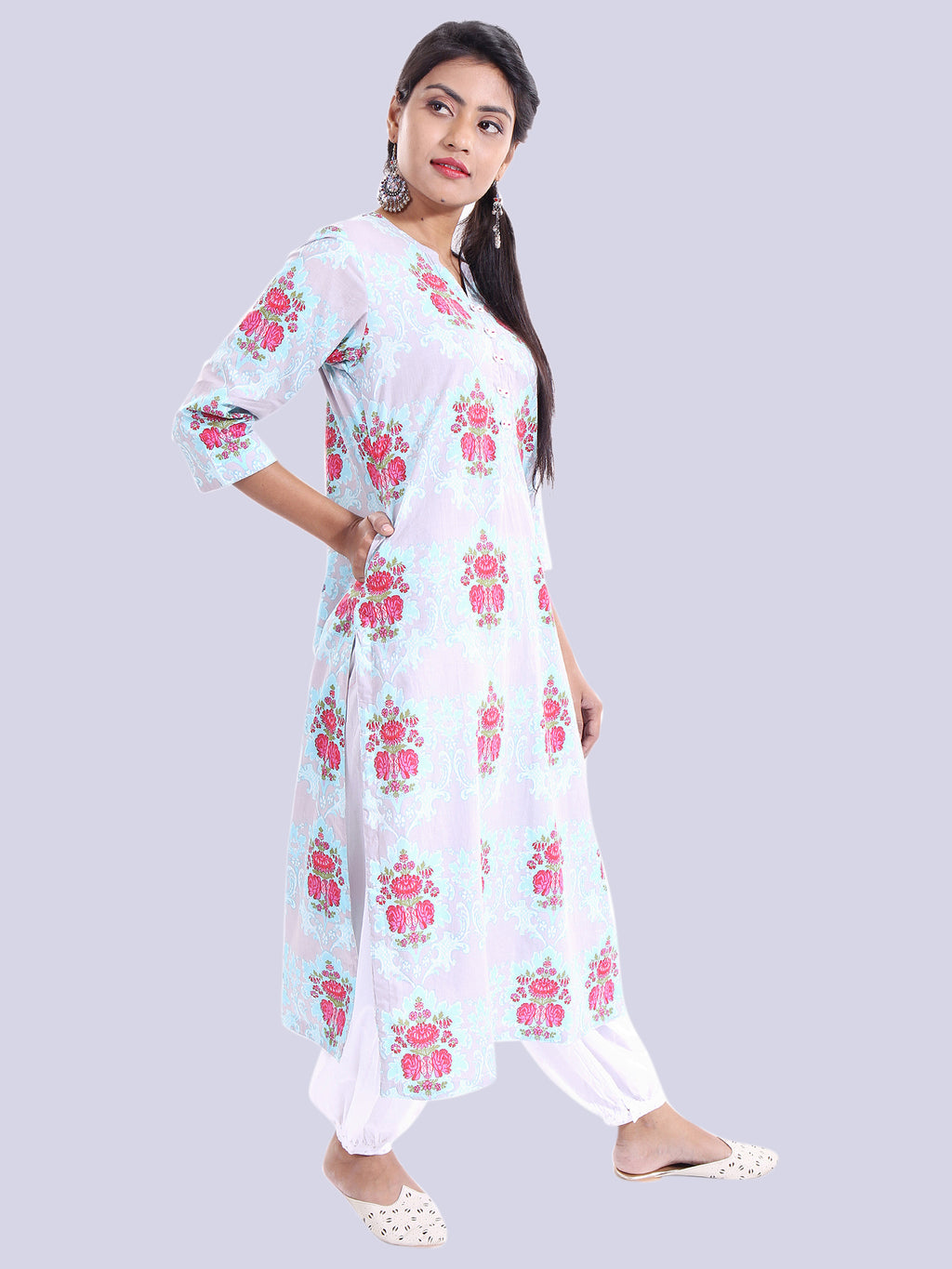FLORAL COTTON KURTA