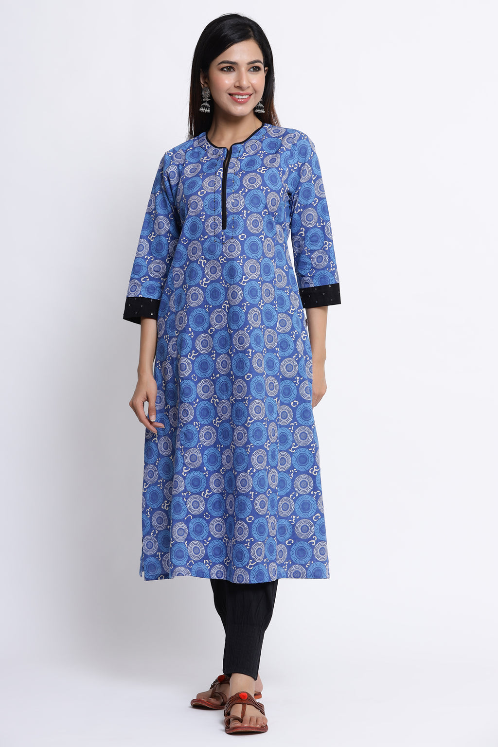 WOMEN BLUE COLOUR STRAIGHT KURTA