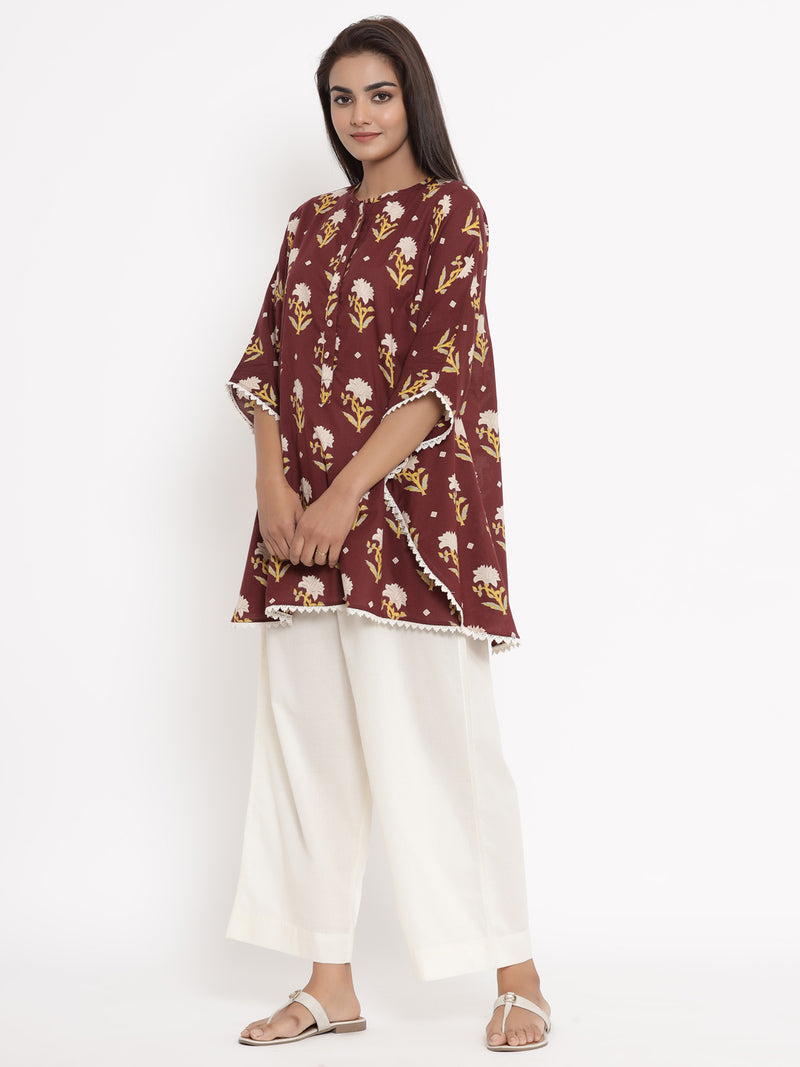 KAFTAN SHIRT NIGHTWEAR COTTON PYJAMA SET