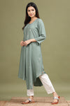 PISTA GREEN COLOUR HIGH LOW KURTA