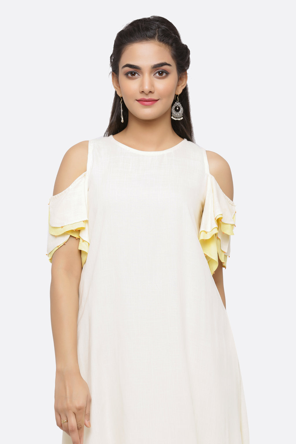 COLD SHOULDER SWAY DRESS