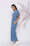 DENIM BELL SLEEVES JUMPSUIT