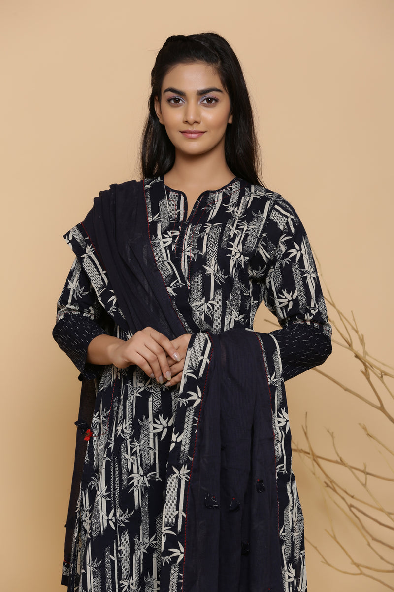 BAMBOO PRINTED COTTON KURTA