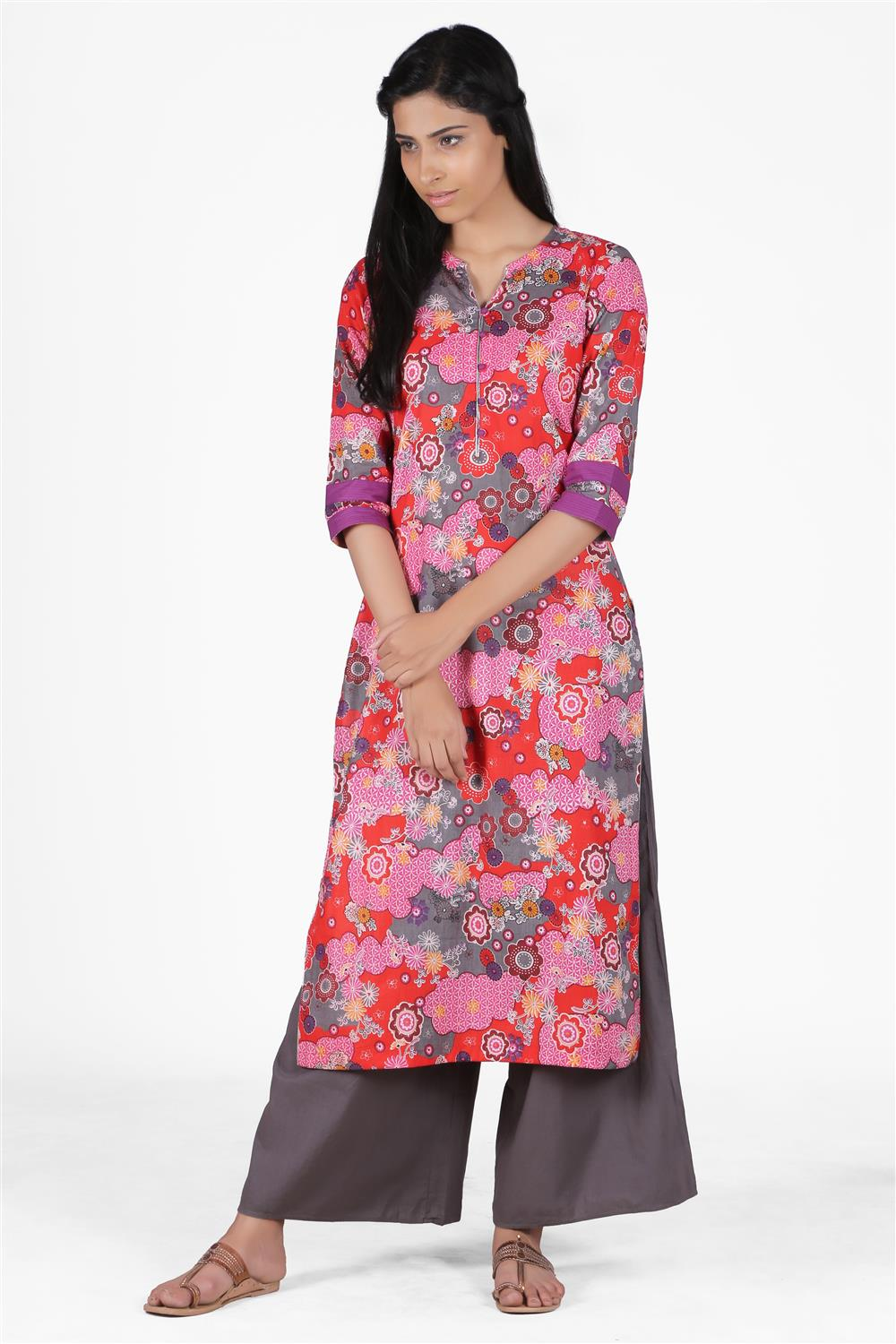 PRINTED COTTON KURTA