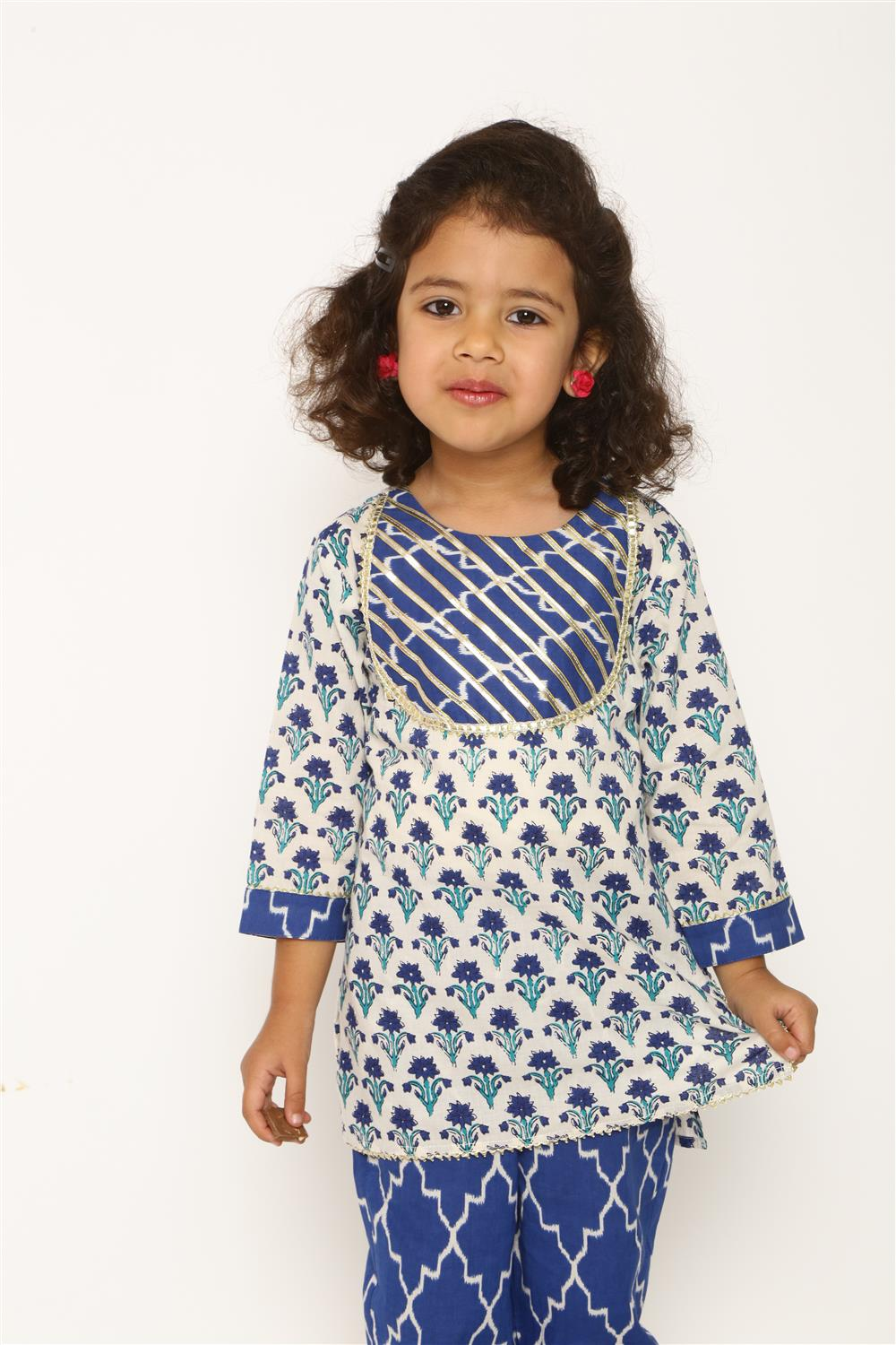KIDS PRINTED COTTON SUIT