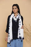 WHITE LUREX FUNDA DUPATTA