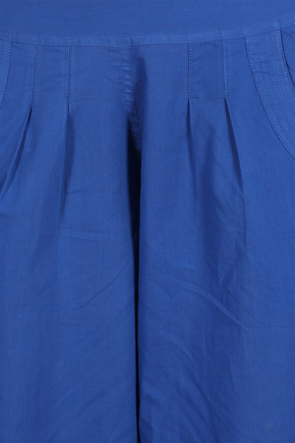 BLUE ELASTIC PANTS
