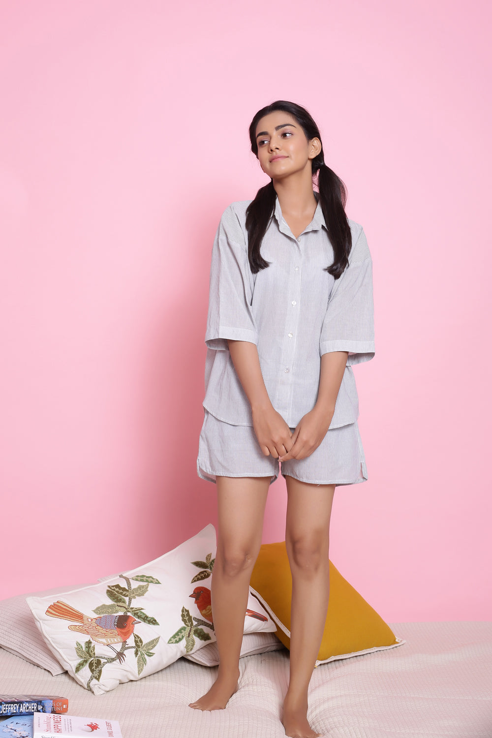 LIGHT BLUE COLOUR NIGHTWEAR SET