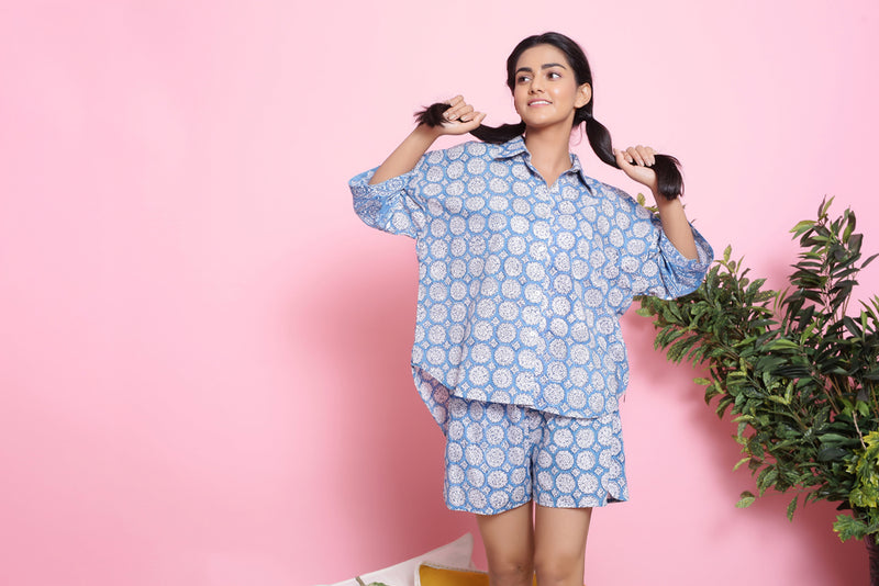 FLORAL PRINTED NIGHTWEAR SET