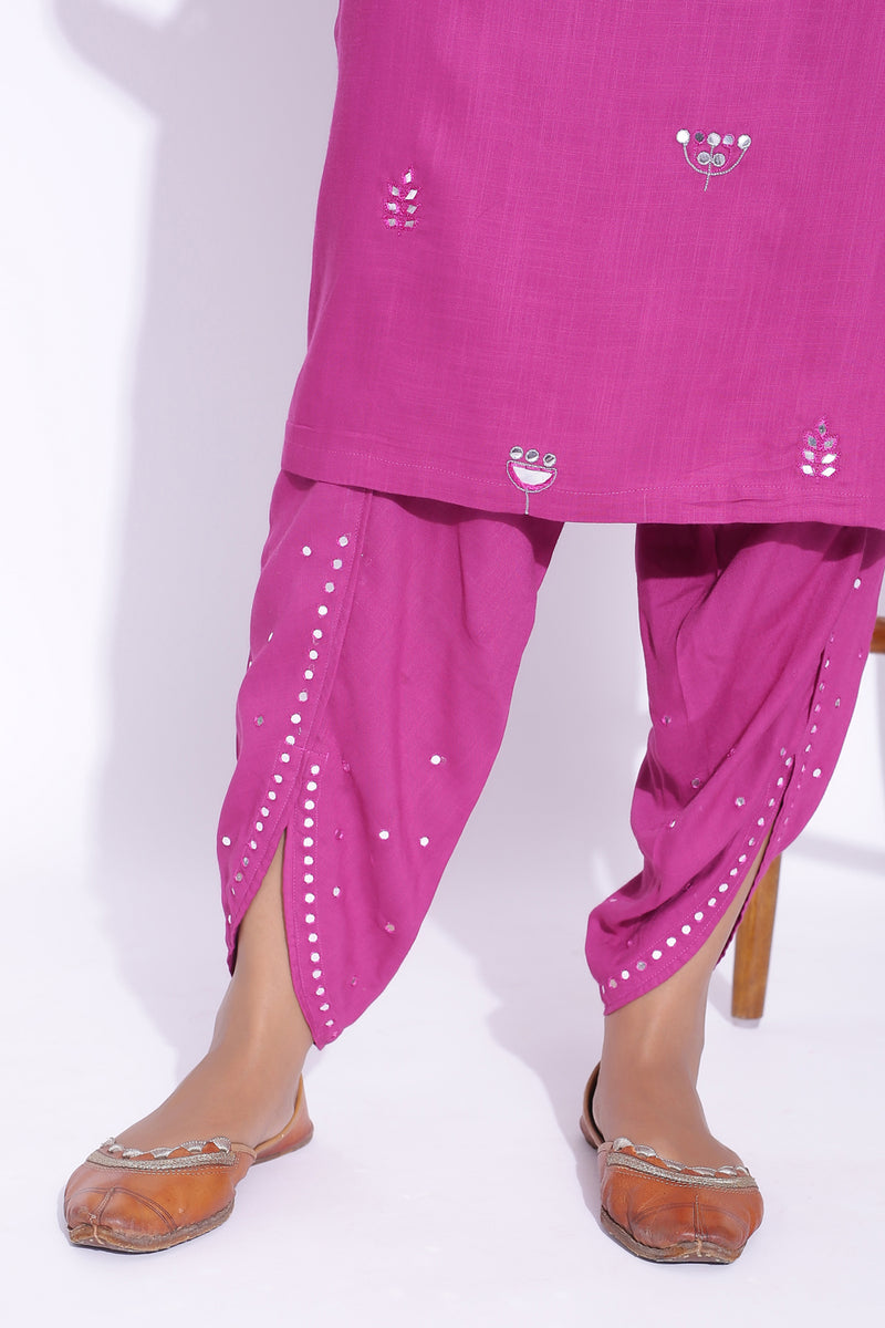 TULIP PANT WITH MIRROR DETAILING