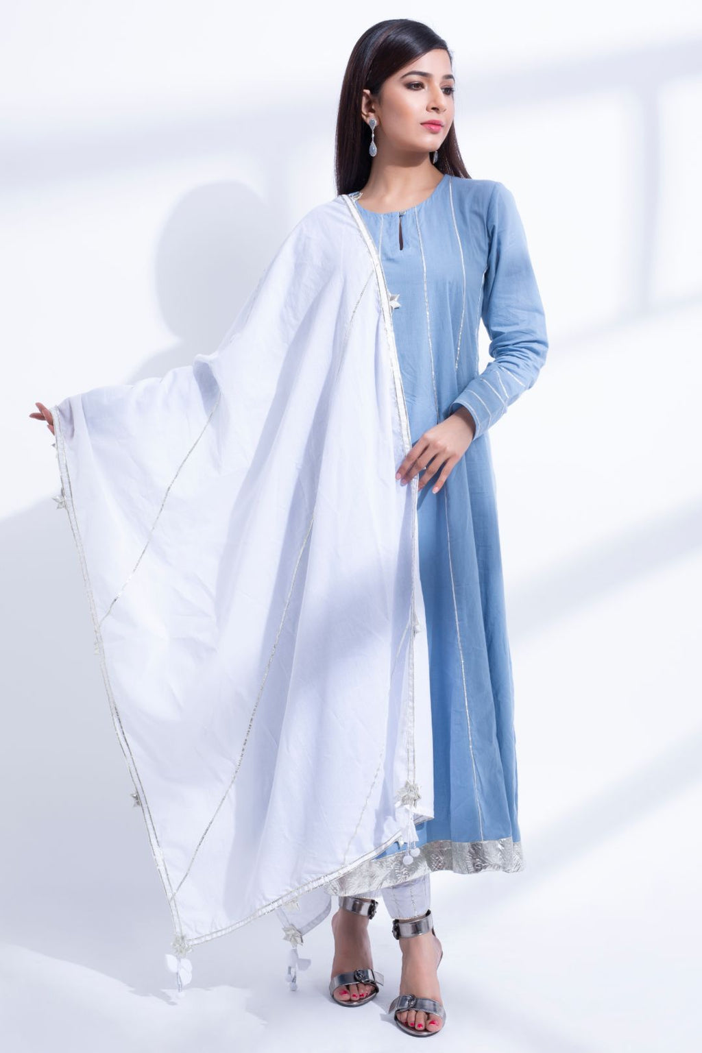 BLUE ANARKALI KURTA SUIT