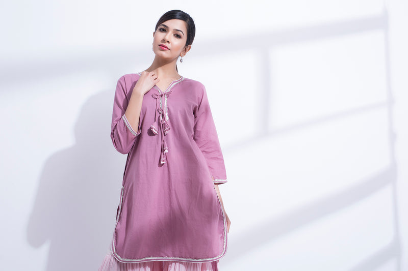 MARSALA HIGH LOW KURTA