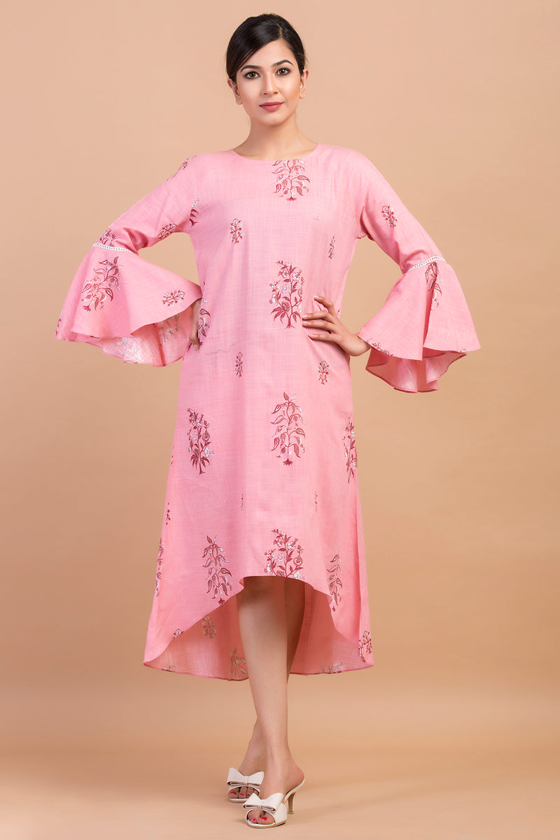 BELL SLEEVES SWING DRESS