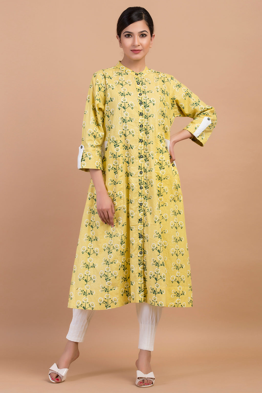 SIDE POCKET FLARE KURTA
