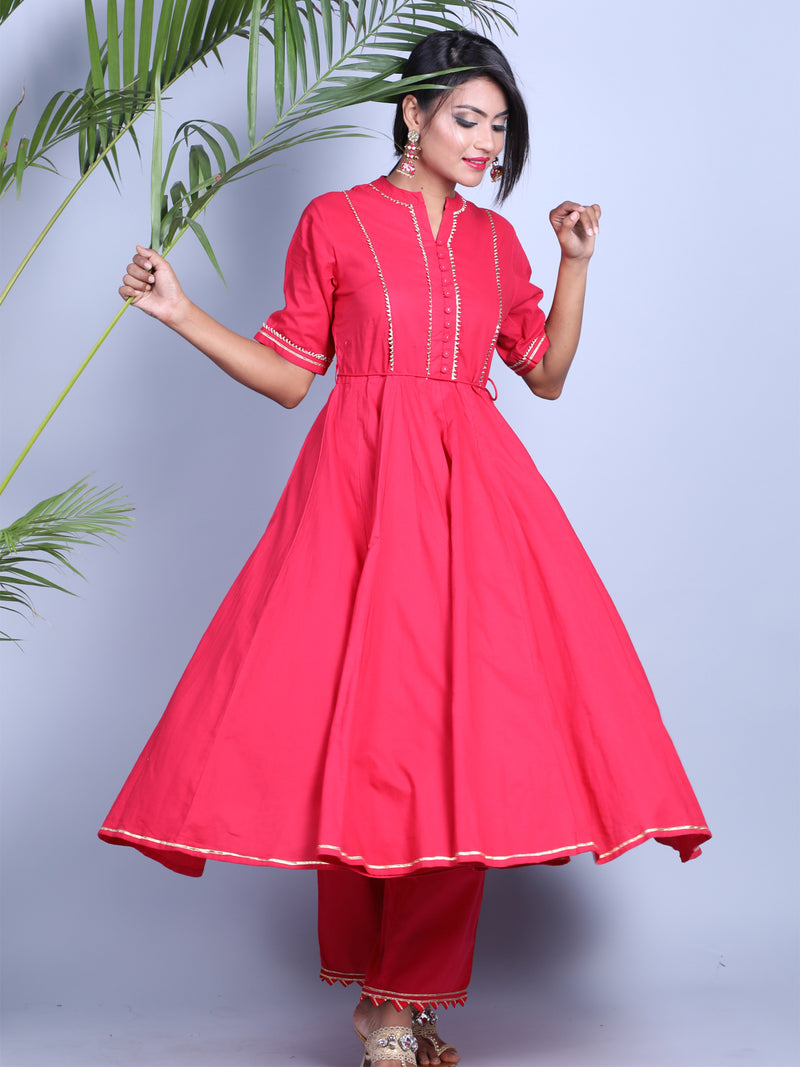 RED GOTTA ANARKALI