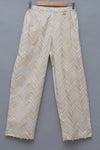 Cotton golden printed pant