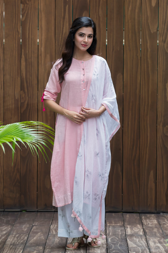 Cotton asymmetrical kurta