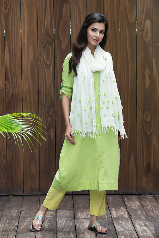Funda detailing cotton dupatta