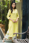Yellow pintucks cotton kurta