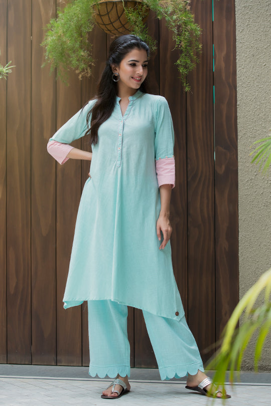 Cotton A line kurta