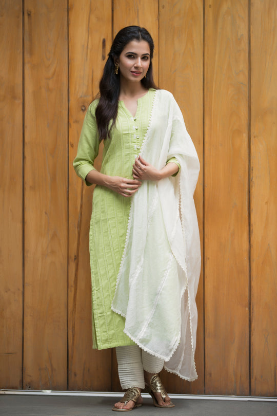 Ivory coloure dupatta