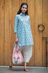 Cotton shirt collar tunic