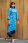 Blue back detailing kurta