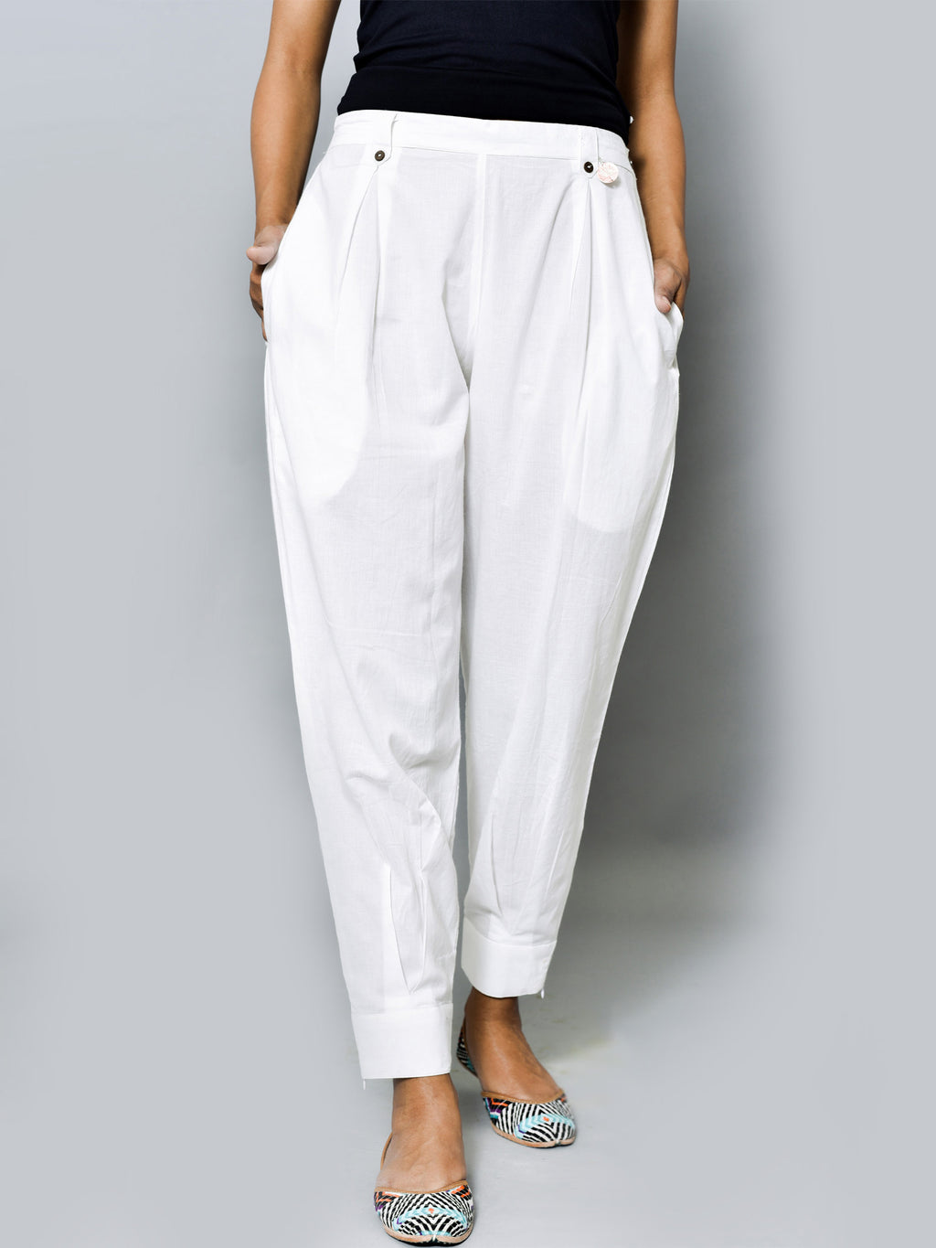 BOX PLEAT PANTS
