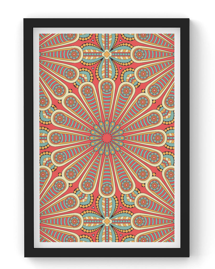 Seamless golden pattern with mandala