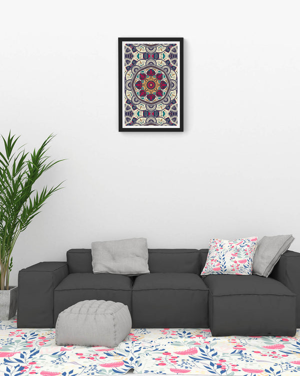 Colorful ornamental mandala