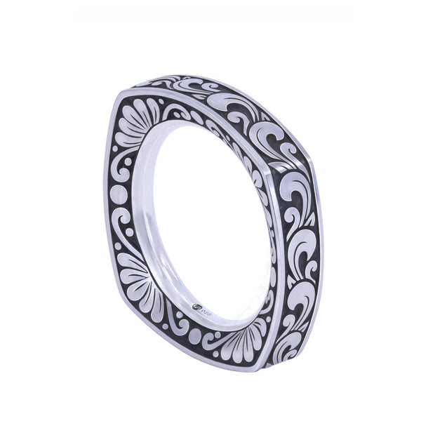 KRANOK Square Engraved Ring