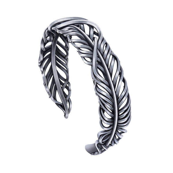 3X3 FAITH- Feather Bangle