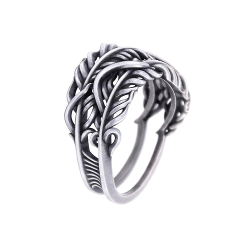3x3 FAITH- Double Feather Ring