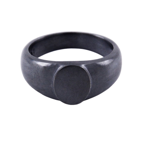 SIGNET Ring V - Oxidized